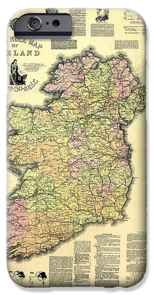 Ireland 1893 Map IPhone Case by Jon Neidert