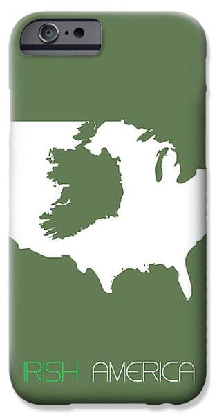 Irish America Poster IPhone Case by Naxart Studio