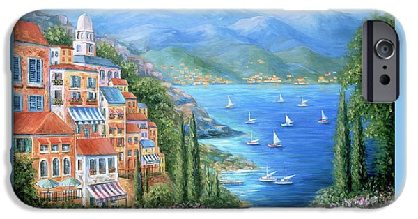Italian Village By The Sea IPhone Case by Marilyn Dunlap
