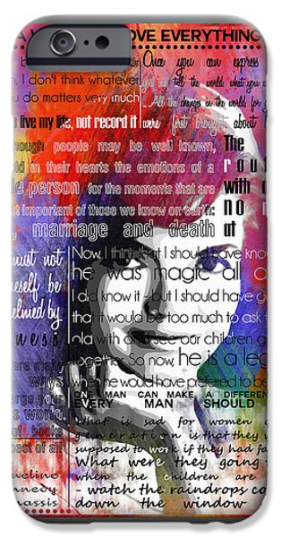 Jackie Kennedy Motivational Inspirational Independent Quotes 2 IPhone Case by Diana Van