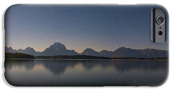 Jackson Lake Moon IPhone Case by Darren White