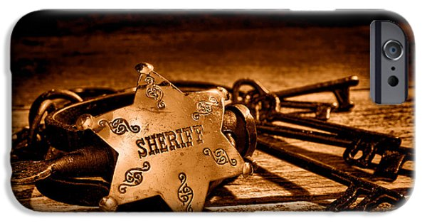 Jailer Tools - Sepia IPhone Case by Olivier Le Queinec