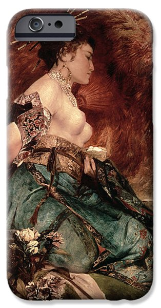 Japanese Girl IPhone Case by Hans Makart