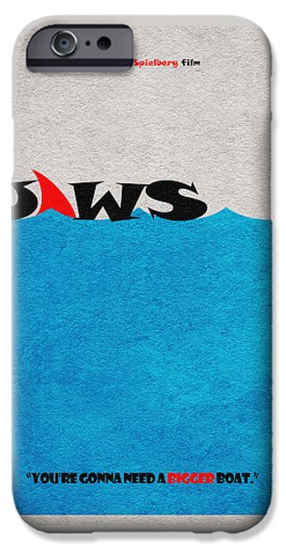 Jaws IPhone Case by Ayse Deniz