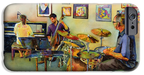 Jazz At The Gallery IPhone Case by Hailey E Herrera