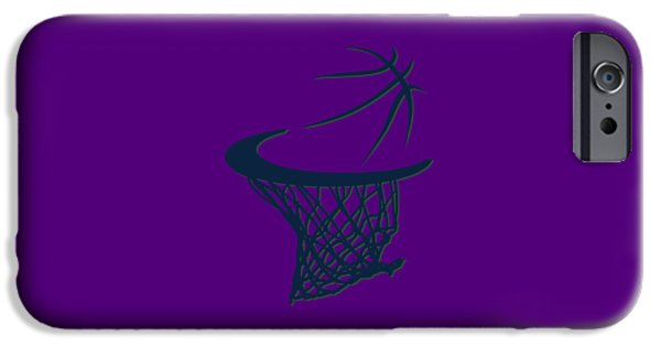 Jazz Basketball Hoop IPhone Case by Joe Hamilton