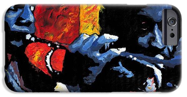 Jazz Trumpeters IPhone Case by Yuriy  Shevchuk