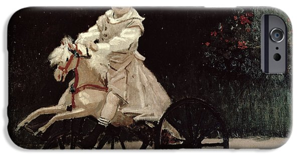Jean Monet On His Hobby Horse IPhone Case by Claude Monet