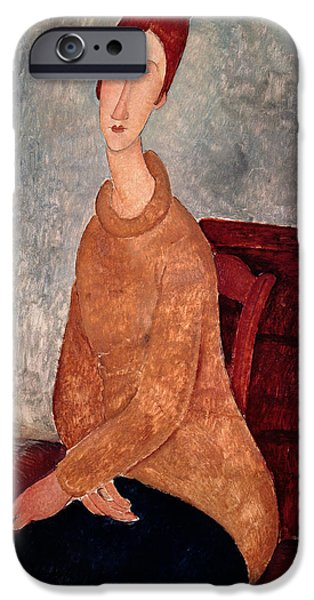 Jeanne Hebuterne In A Yellow Jumper IPhone 6s Case by Amedeo Modigliani