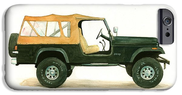 Jeep Cj8 IPhone Case by Juan Bosco