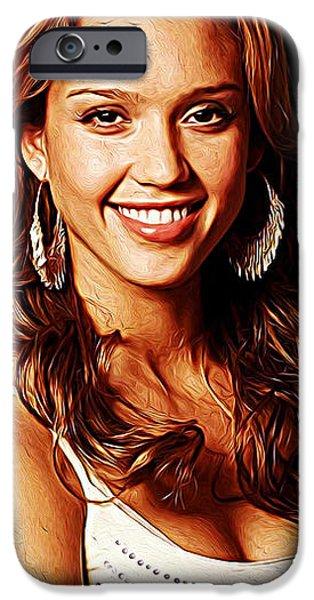 Jessica Alba IPhone 6s Case by Iguanna Espinosa