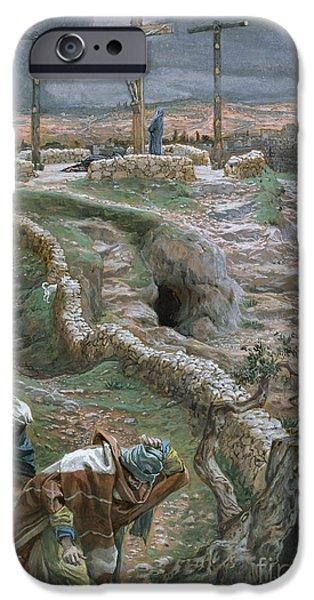 Jesus Alone On The Cross IPhone Case by Tissot