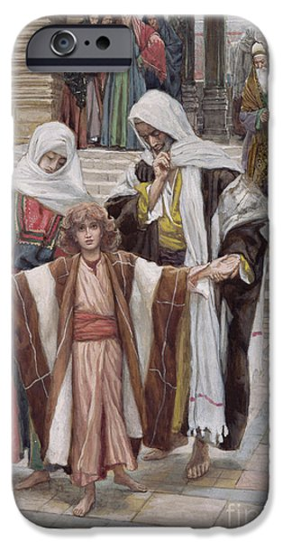 Jesus Found In The Temple IPhone Case by Tissot
