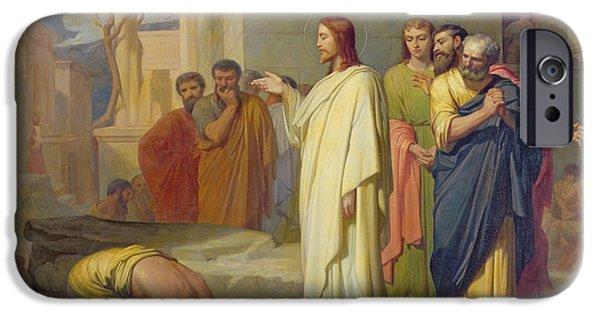 Jesus Healing The Leper IPhone Case by Jean Marie Melchior Doze