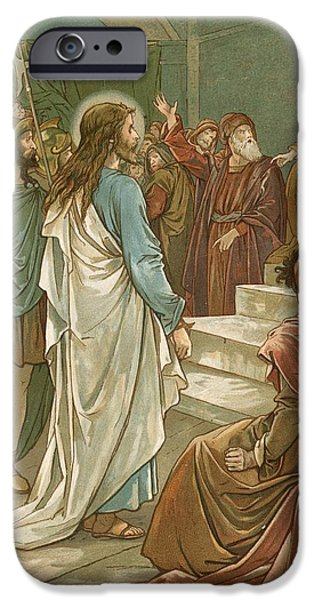 Jesus In Front Of Pilate IPhone Case by John Lawson