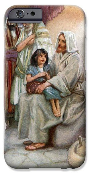 Jesus Teaching The People IPhone Case by Arthur A Dixon