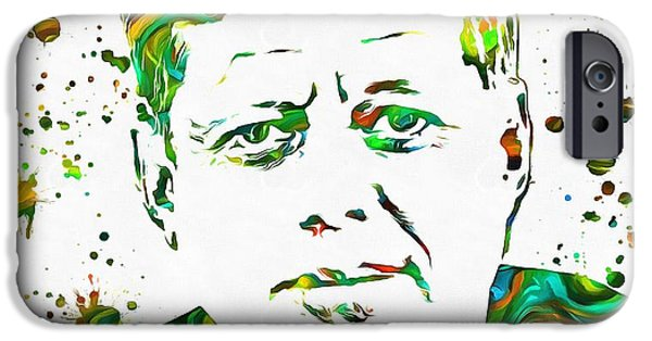 Jfk Paint Splatter IPhone 6s Case by Dan Sproul