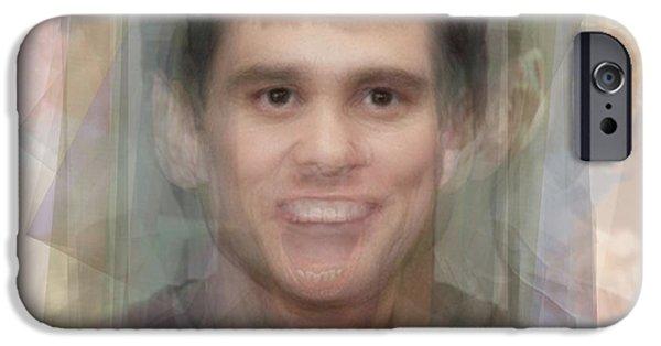 Jim Carrey IPhone Case by Steve Socha