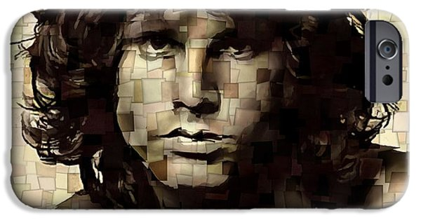Jim Morrison Cubism IPhone Case by Dan Sproul