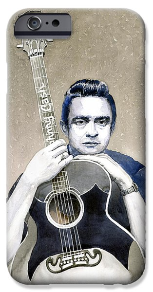 Johnny Cash IPhone 6s Case by Yuriy  Shevchuk