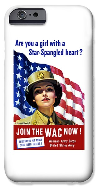 Join The Wac Now IPhone Case by War Is Hell Store