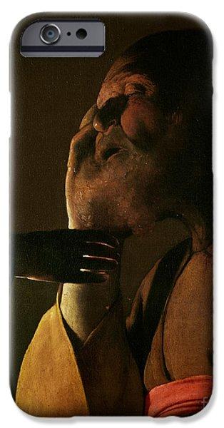Joseph And The Angel IPhone Case by Georges de la Tour