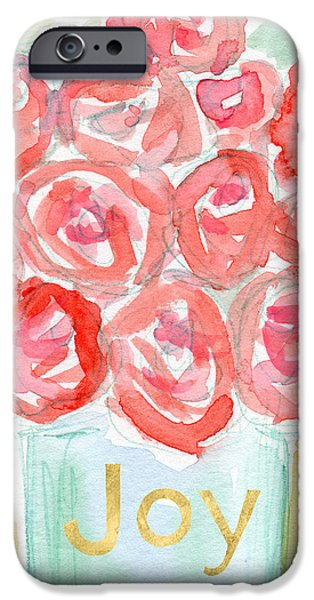 Joyful Roses- Art By Linda Woods IPhone Case by Linda Woods