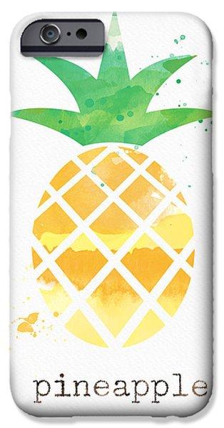 Juicy Pineapple IPhone Case by Linda Woods
