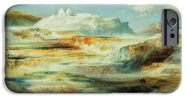 Jupiter Terrace  Yellowstone IPhone Case by Thomas Moran