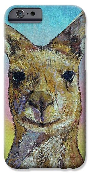 Kangaroo IPhone Case by Michael Creese