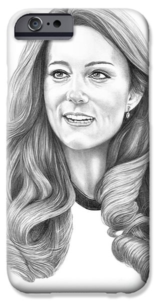 Kate Middleton Catherine Duchess Of Cambridge IPhone Case by Murphy Elliott