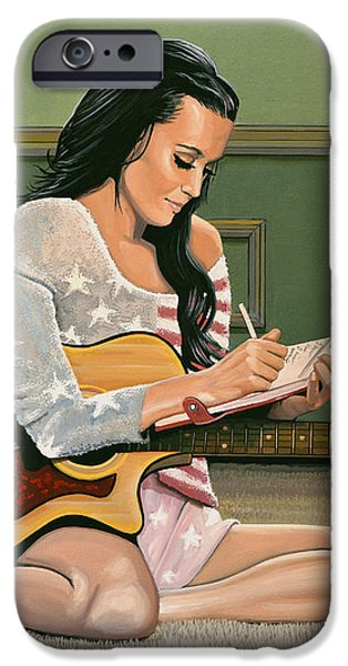 Katy Perry Painting IPhone Case by Paul Meijering