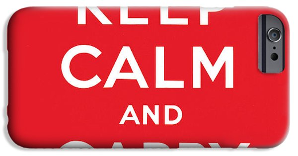 Keep Calm And Carry On IPhone 6s Case by English School