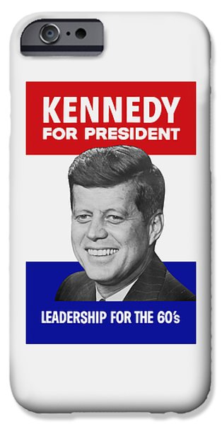 Kennedy For President 1960 Campaign Poster IPhone Case by War Is Hell Store