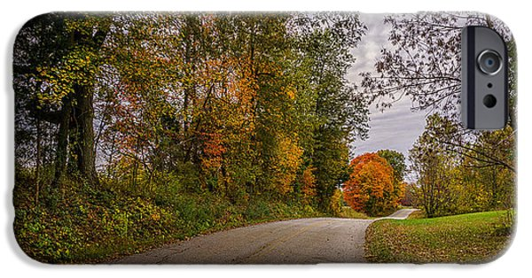 Kentucky County Lane In Fall IPhone Case by Wendell Thompson