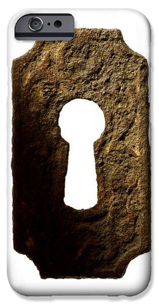 Key Hole IPhone Case by Tony Cordoza