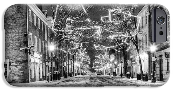 King Street In Black And White IPhone Case by JC Findley