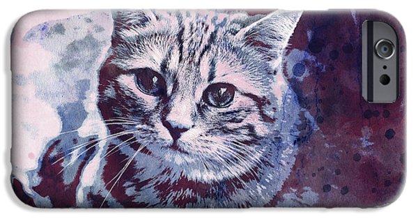 Kitty Cat IPhone Case by Jutta Maria Pusl
