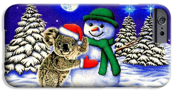 Koala With Snowman IPhone 6s Case by Remrov