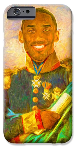 Kobe Bryant Floor General Digital Painting La Lakers IPhone 6s Case by David Haskett