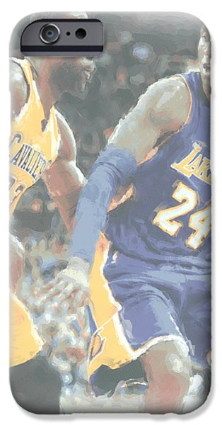 Kobe Bryant Lebron James 2 IPhone 6s Case by Joe Hamilton