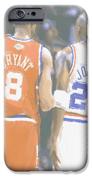 Kobe Bryant Michael Jordan 2 IPhone Case by Joe Hamilton