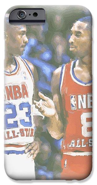 Kobe Bryant Michael Jordan IPhone Case by Joe Hamilton