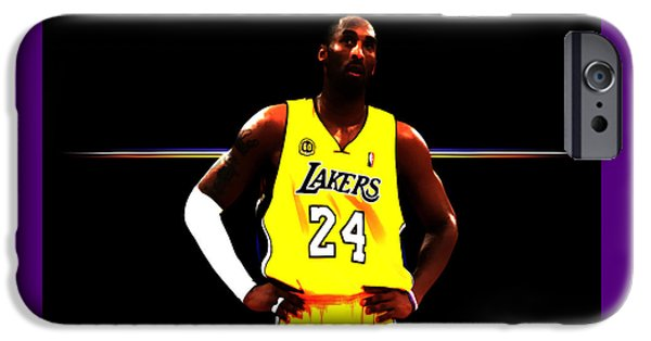 Kobe Bryant Ready For Battle IPhone Case by Brian Reaves