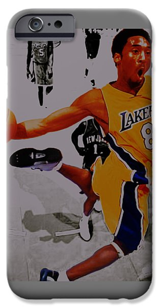 Kobe Bryant Taking Flight 3a IPhone Case by Brian Reaves
