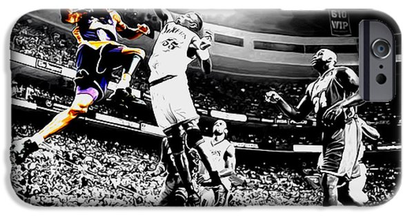 Kobe Taking Flight IPhone Case by Brian Reaves