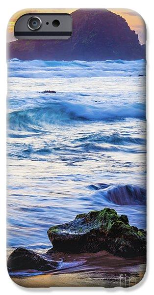 Koki Beach Sunrise #4 IPhone Case by Inge Johnsson