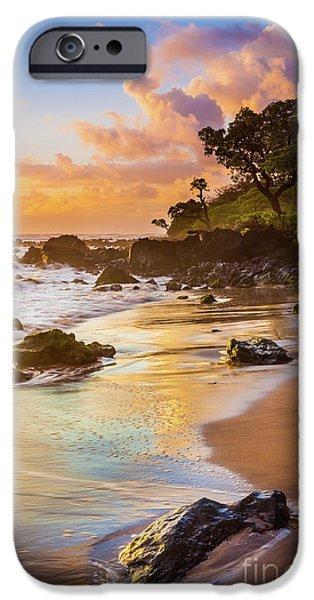 Koki Beach Sunrise IPhone Case by Inge Johnsson