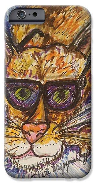 Kool Kat IPhone Case by Geraldine Myszenski