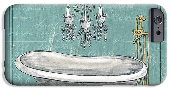 Faucet IPhone Case featuring the painting La Baignoire by Debbie DeWitt
